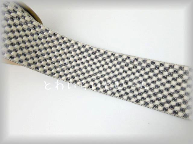 画像1: (50cm単位販売)ダイヤ柄・ジャガードリボン