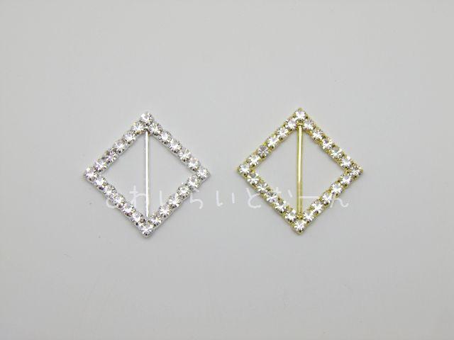 画像1: リボンバックル・ダイアモンド